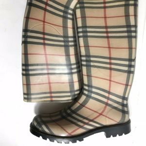 Authentic New Burberry Nova Check Rain Boot